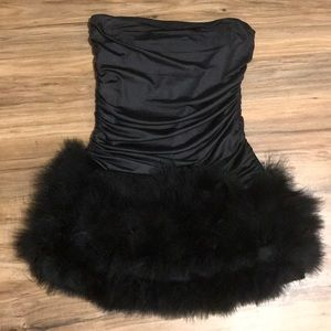 Black strapless Charlotte Russe mini dress